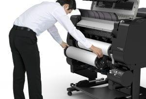 Canon TX-2000 Series Printer Roll Change