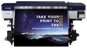 Epson SureColor SC-S40600 Large Format Solvent Printer Printing Image of landscape