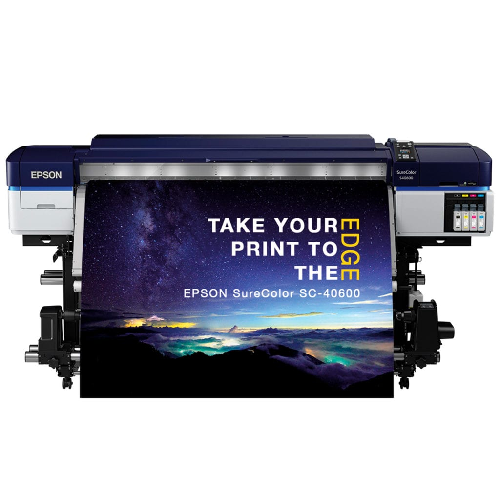 Epson SC-S40600 Large Format Printer Printing Using Solvent Printer